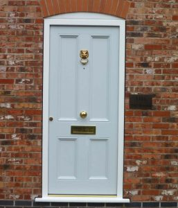 Accoya wood timber entrance door