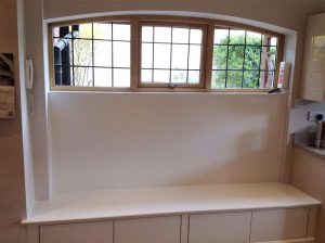 Arched timber window