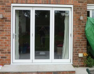 Timber bifold doors and patio