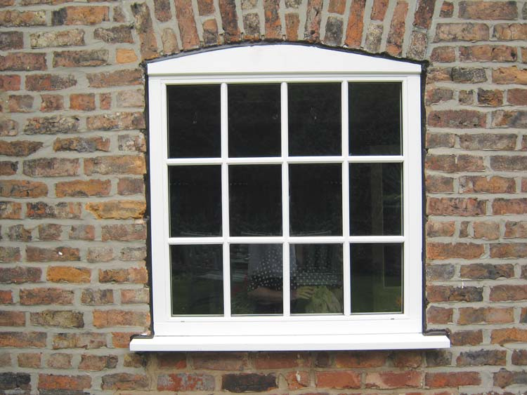 White timber Georgian window