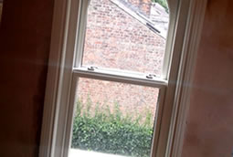 Timber sash windows in traditional home