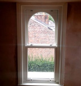 Interior view of a bespoke sliding sash window