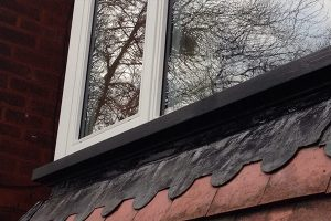 Timber windows close-up