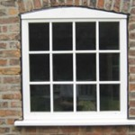 Traditional timber windows with astragal bars