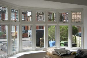 Timber windows with leaded light