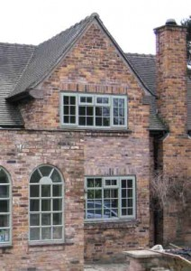 Hardwood timber windows in chartwell green