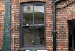 uPVC sash windows timber effect