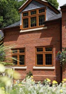upvc windows in oak effect