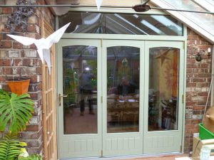 Chartwell green Accoya wood internal bifolds