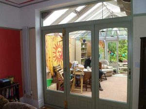 Internal Accoya wood bifolds