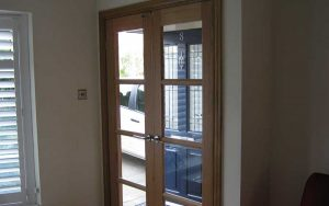 Internal timber door