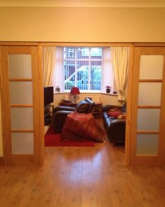 Timber internal sliding doors