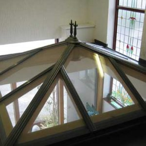 Conservatory roof displayed at Reddish Joinery showroom in Cheshire
