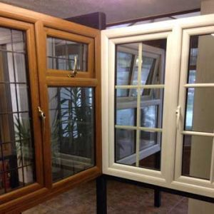 Double glazed windows displayed at Reddish Joinery showroom in Cheshire