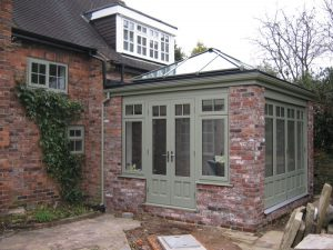 Chartwell Green timber conservatory