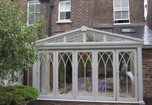 Grey Gothic conservatory