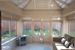 A timber orangery's decorative panels
