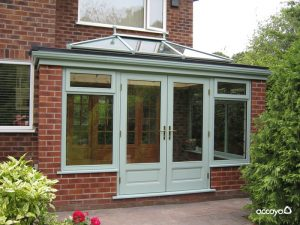 Chartwell green Accoya wood orangery