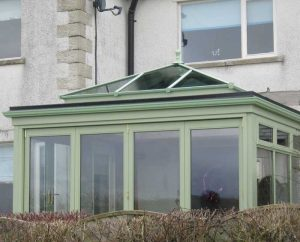 Chartwell green orangery with bifold doors