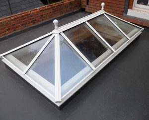 Glasstop for timber orangeries