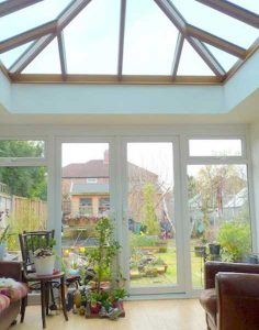 Timber orangery with lantern roof