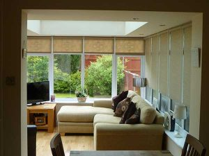Inside view of a uPVC timber orangery
