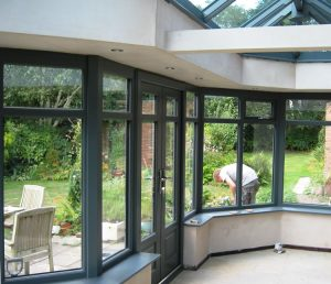 Interior view of timber orangery