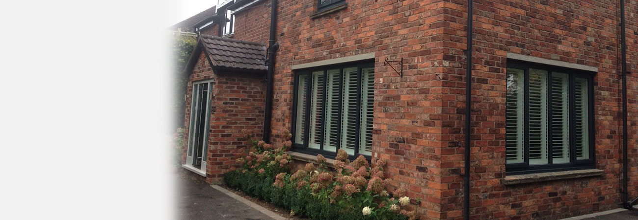 Black timber double glazed windows