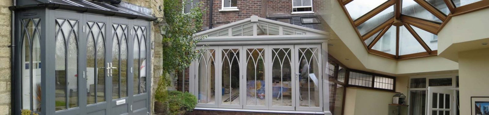 Gothic Conservatory with Orangery and Roof Lantern