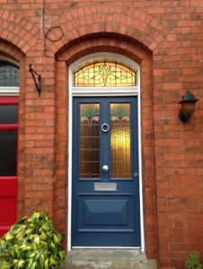 Blue Accoya front door