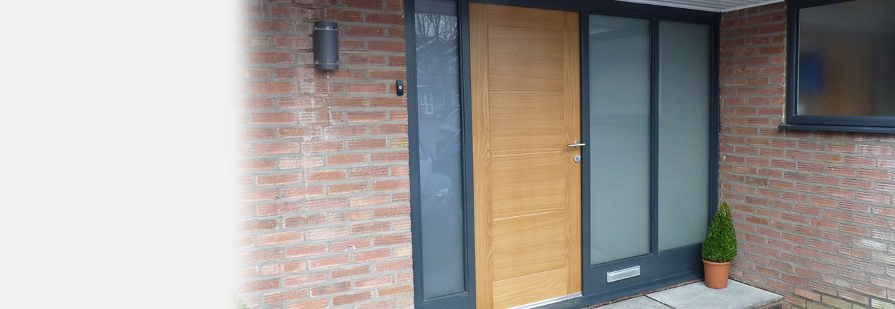 Bespoke timber entrance door