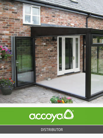 Bi-folding doors in upvc, timber and accoya