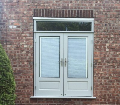 Integrated blinds French doors
