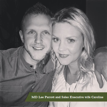 MD Lee Parrott and Sales Executive wife Caroline