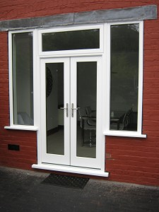 accoya wood french door in white
