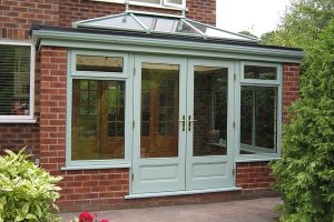 Accoya wood orangery with French doors