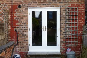 Accoya wood uPVC French doors