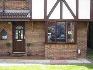 Brown uPVC windows and door