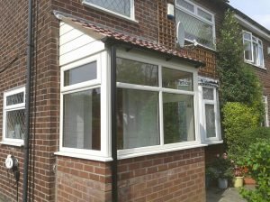 Cream uPVC entrance porch