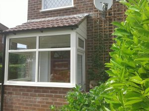 Cream uPVC porch windows