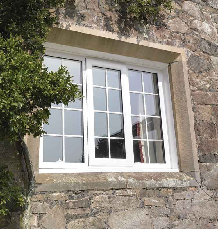 White double glazed uPVC windows