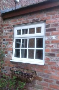 White uPVC Georgian casement window
