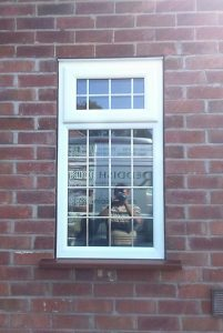 uPVC leaded casement window