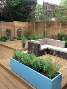 Coppered oak decking