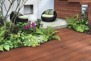 Wooden effect decking