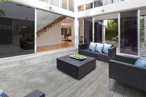 Smoked oak decking