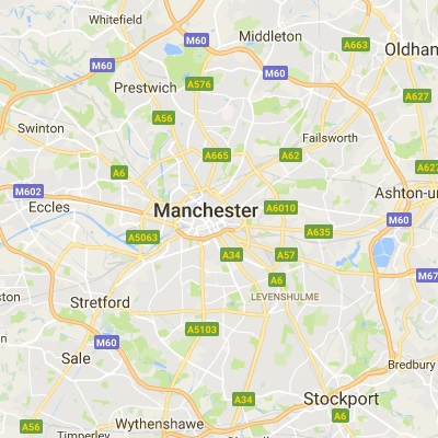 Map of Manchester where we have installed thousands of windows and doors