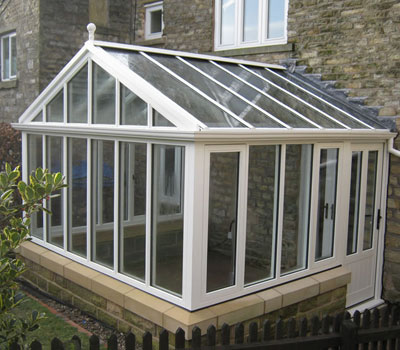 Reddish Joinery White timber conservatory