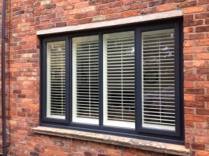 Accoya wood Grey-white window