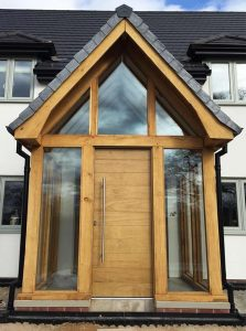 Accoya wood porch door
